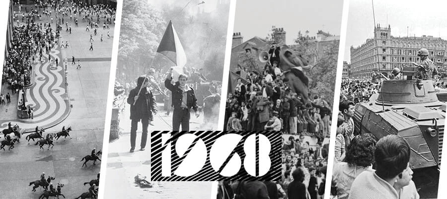 1968 Protests World Banner